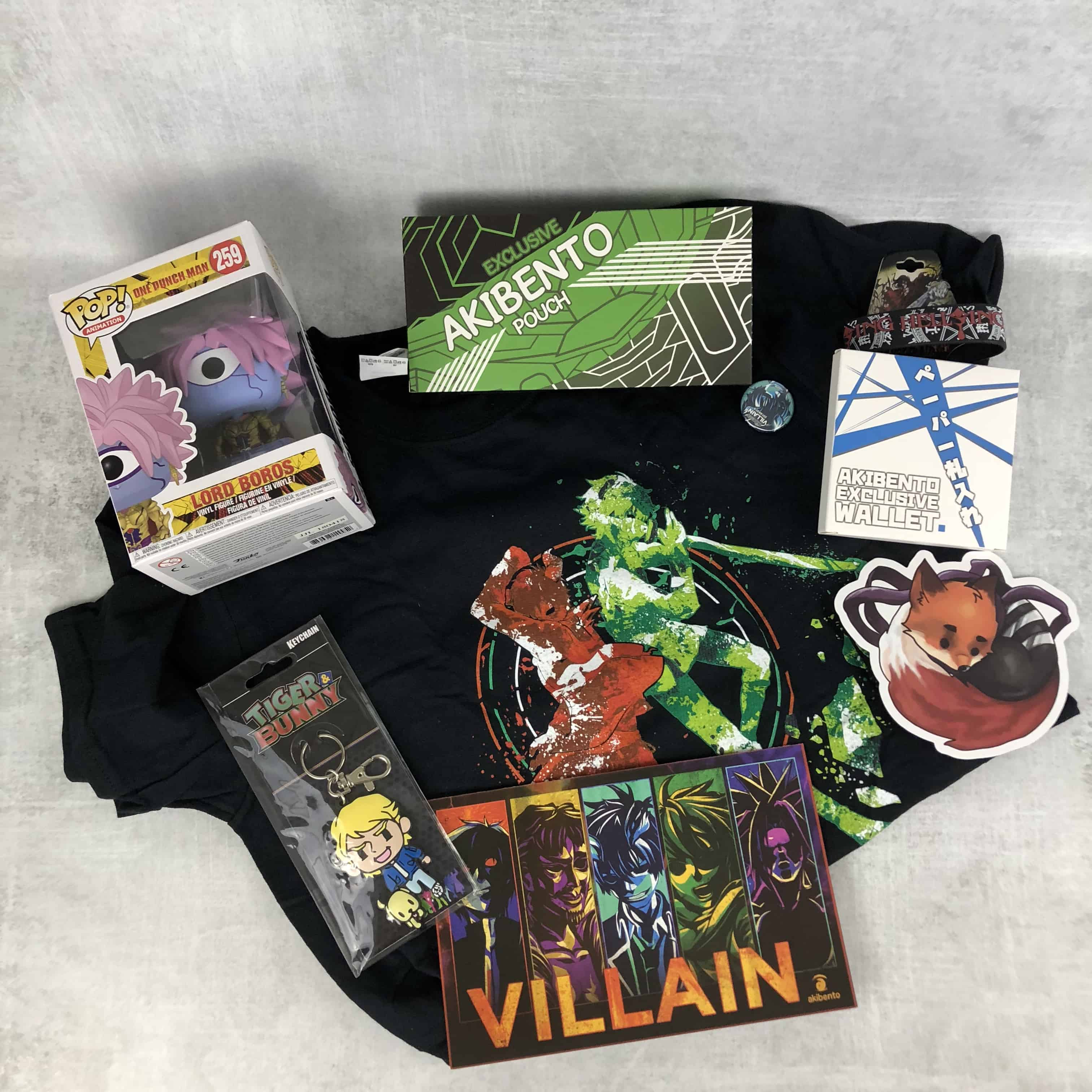 Akibento July 2018 Subscription Box Review & Coupon – VILLAIN