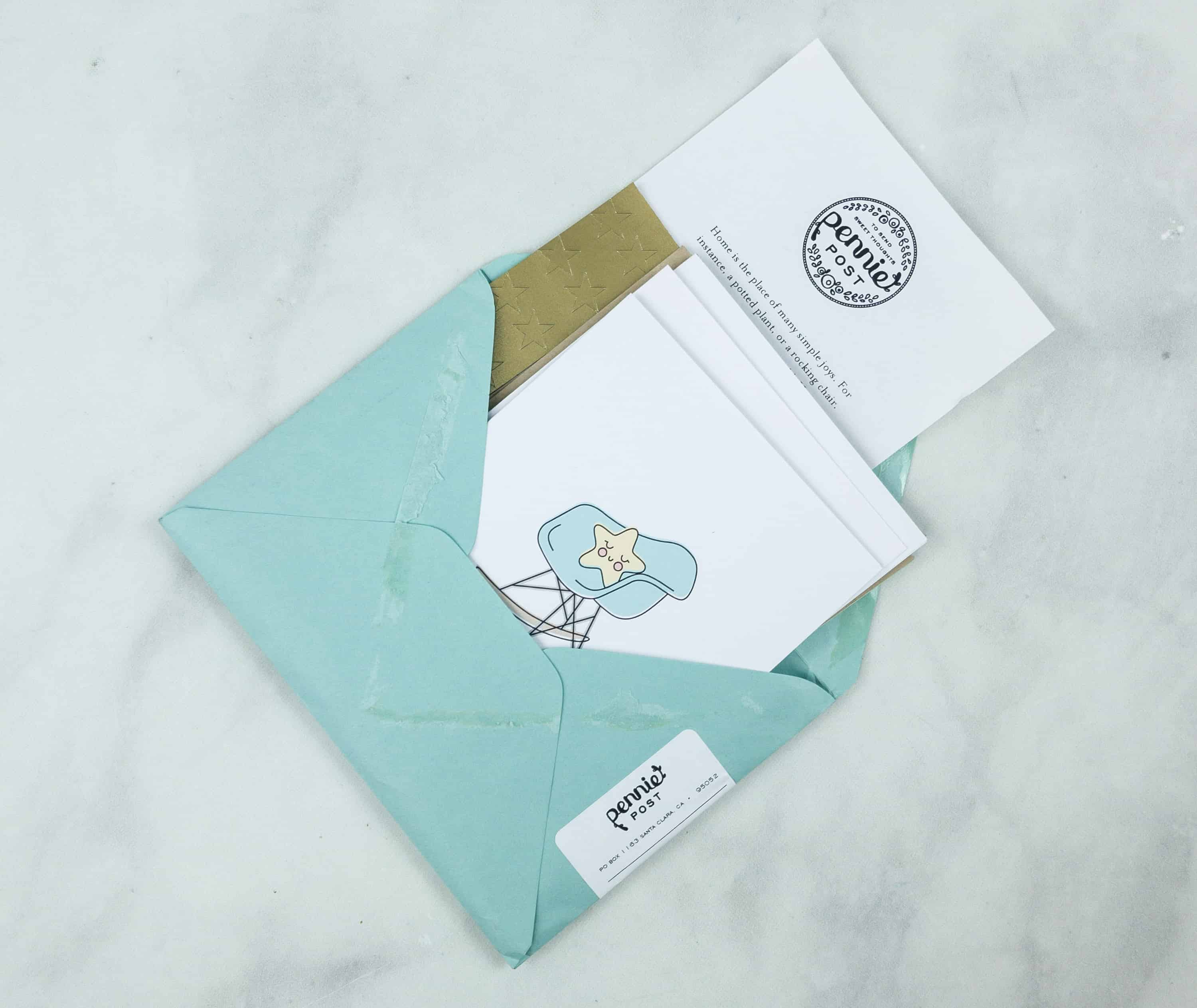 Pennie Post Stationery August 2018 Subscription Review