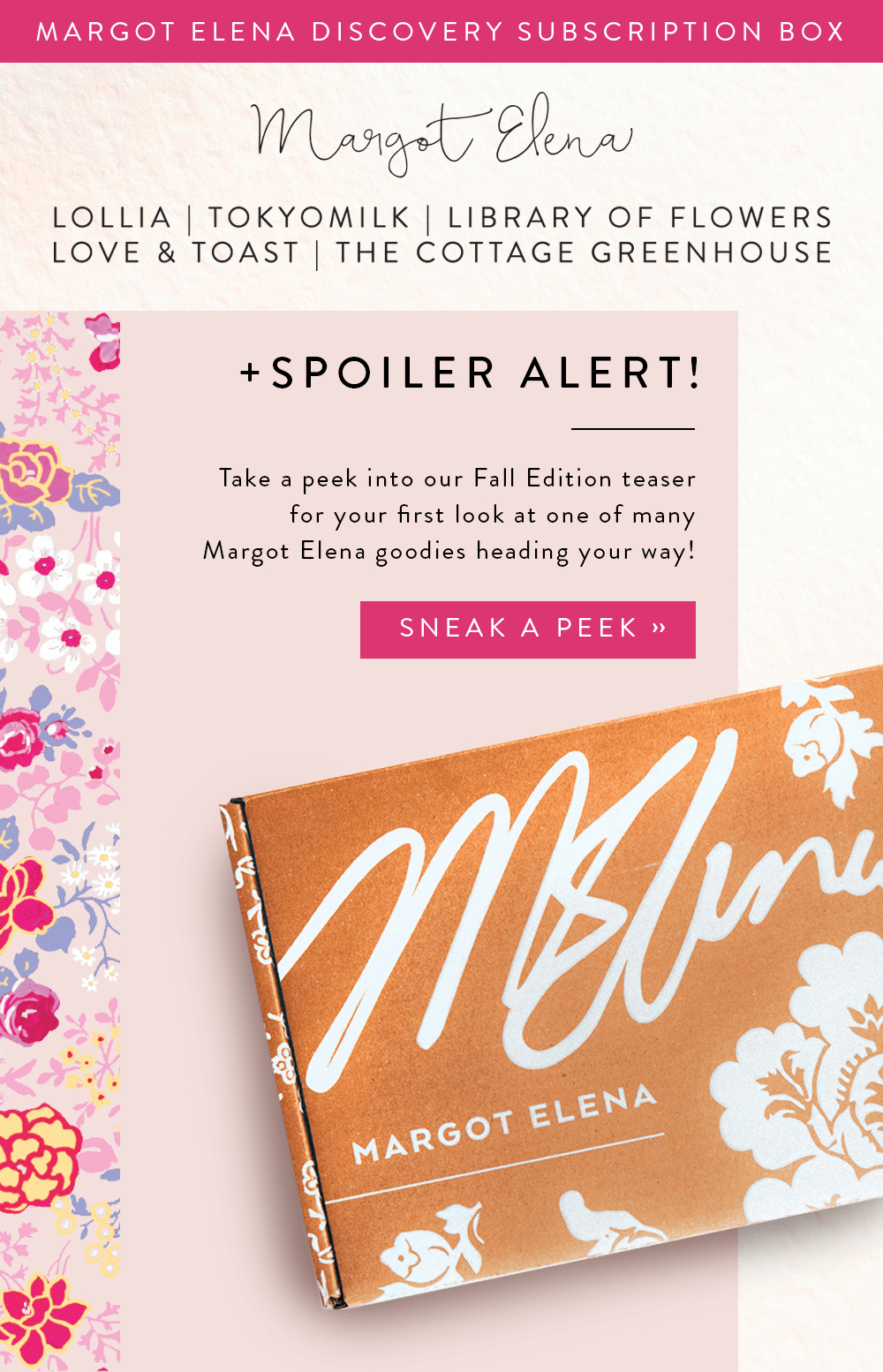 Fall 2018 Margot Elena Discovery Box Spoiler #1