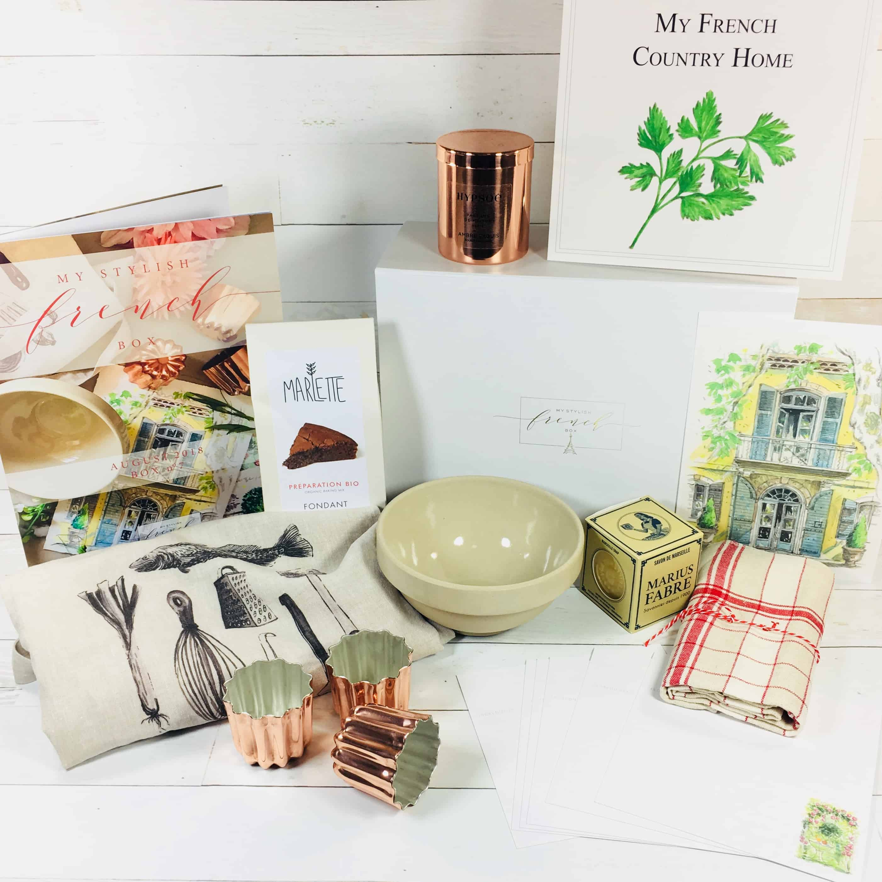My Stylish French Box August 2018 Subscription Box Review