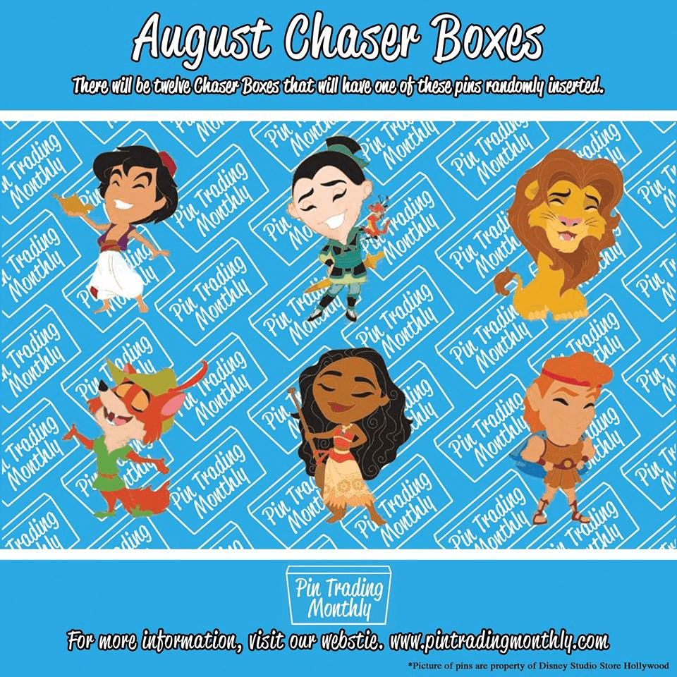 Pin Trading Monthly August 2018 Chase Spoiler!