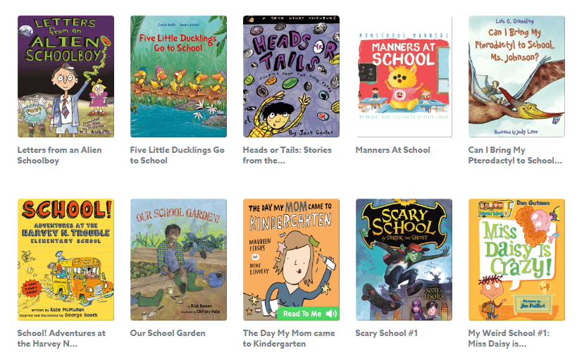 Epic! Kids Books - Back To School Reading Book Collection