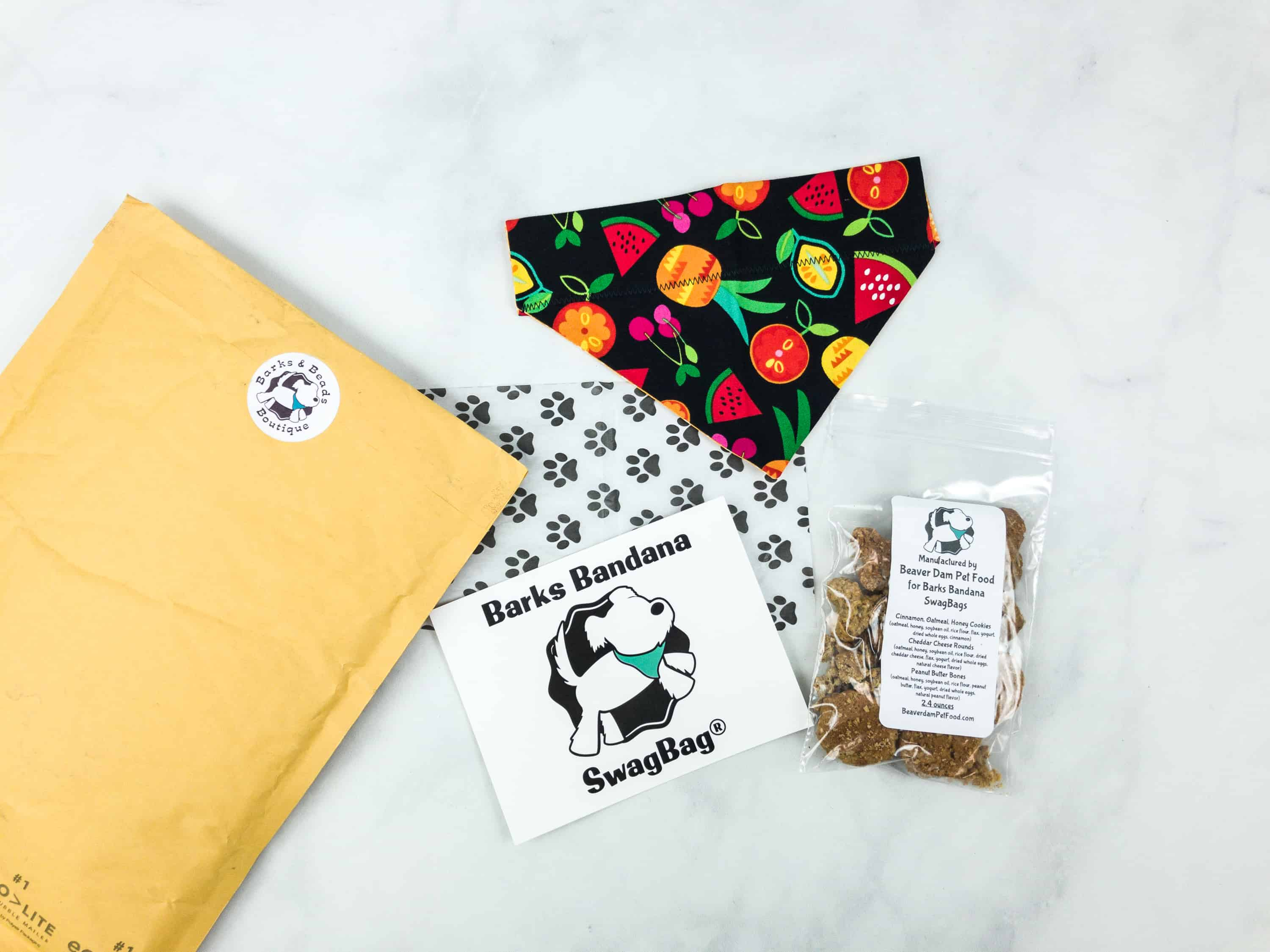 Bark Bandanas SwagBag Subscription Box Review & Coupon – August 2018