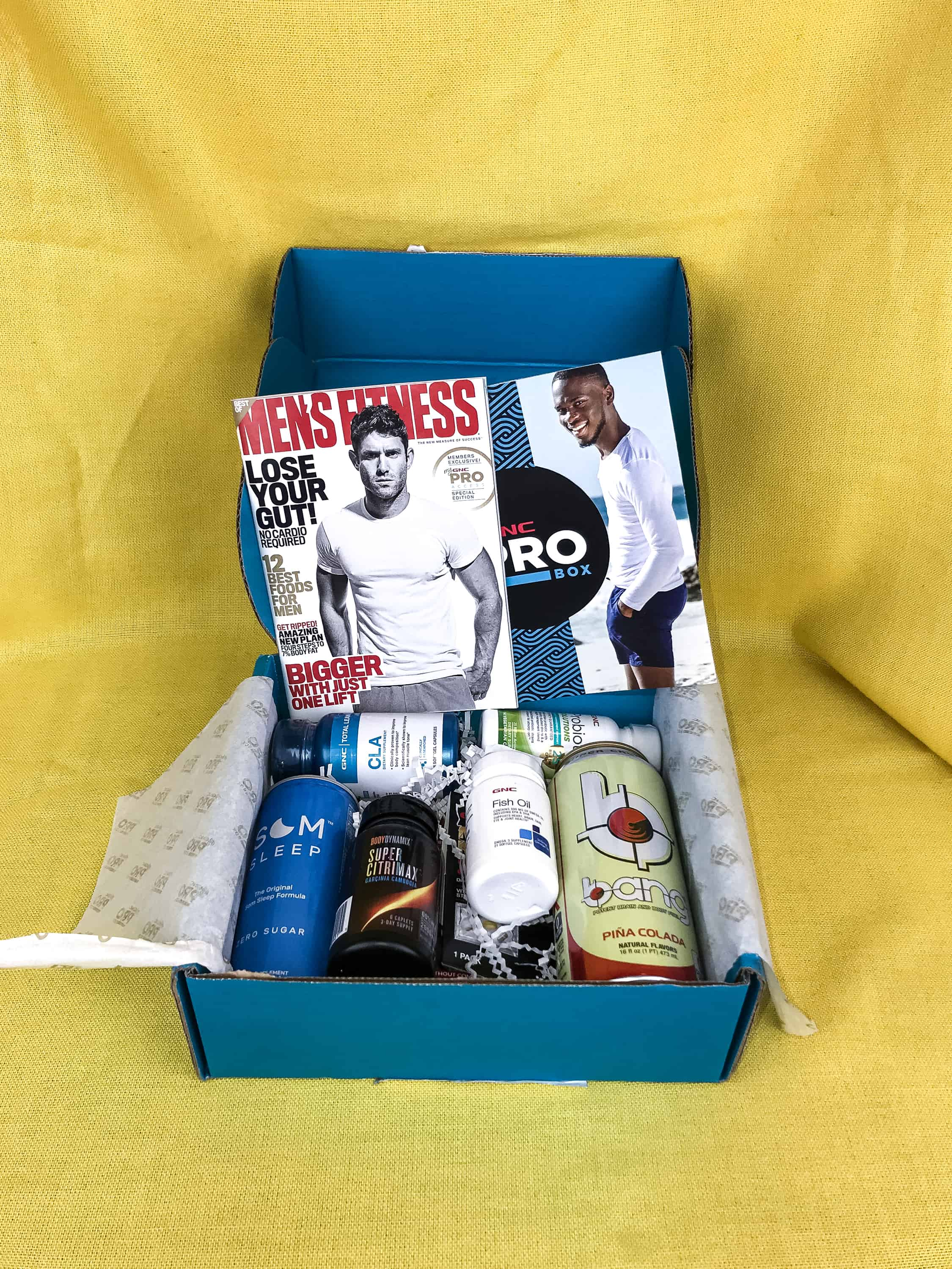 My Gnc Pro Box August 2018 Subscription Box Review Men