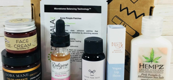 Vegan Cuts Beauty Box August 2018 Subscription Box Review