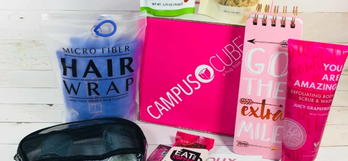 CampusCube College Care Package September 2018 Girls Cube Review+ Coupon!
