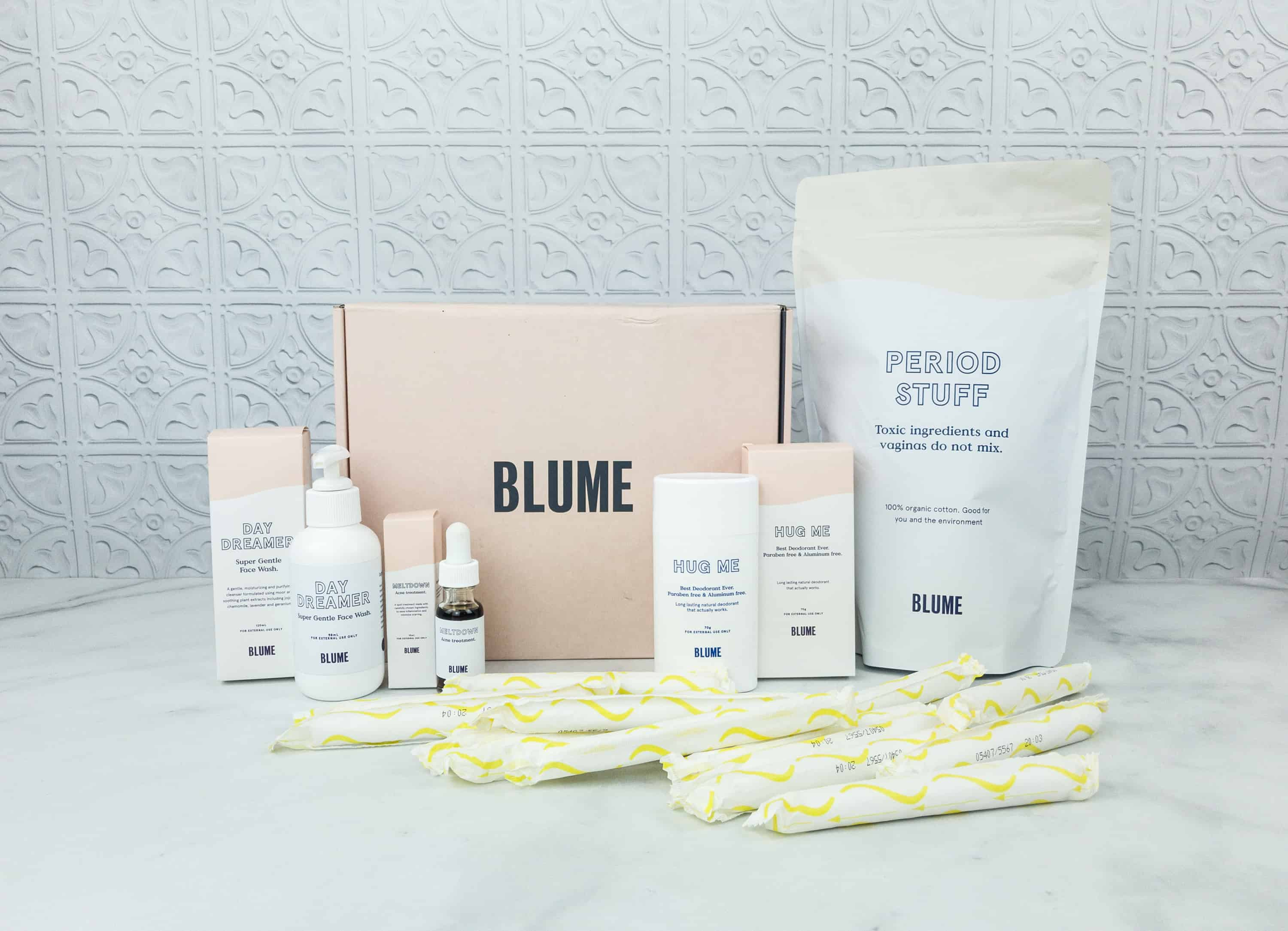 Blume Period Care Subscription Box + Self-Care Bundle Review