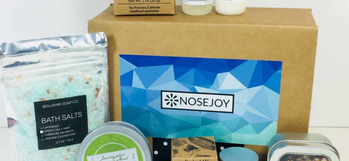 NOSEJOY August 2018 Subscription Box Review + Coupon!