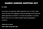 Sanrio Small Gift Crate Summer 2018 Item Shipping Update