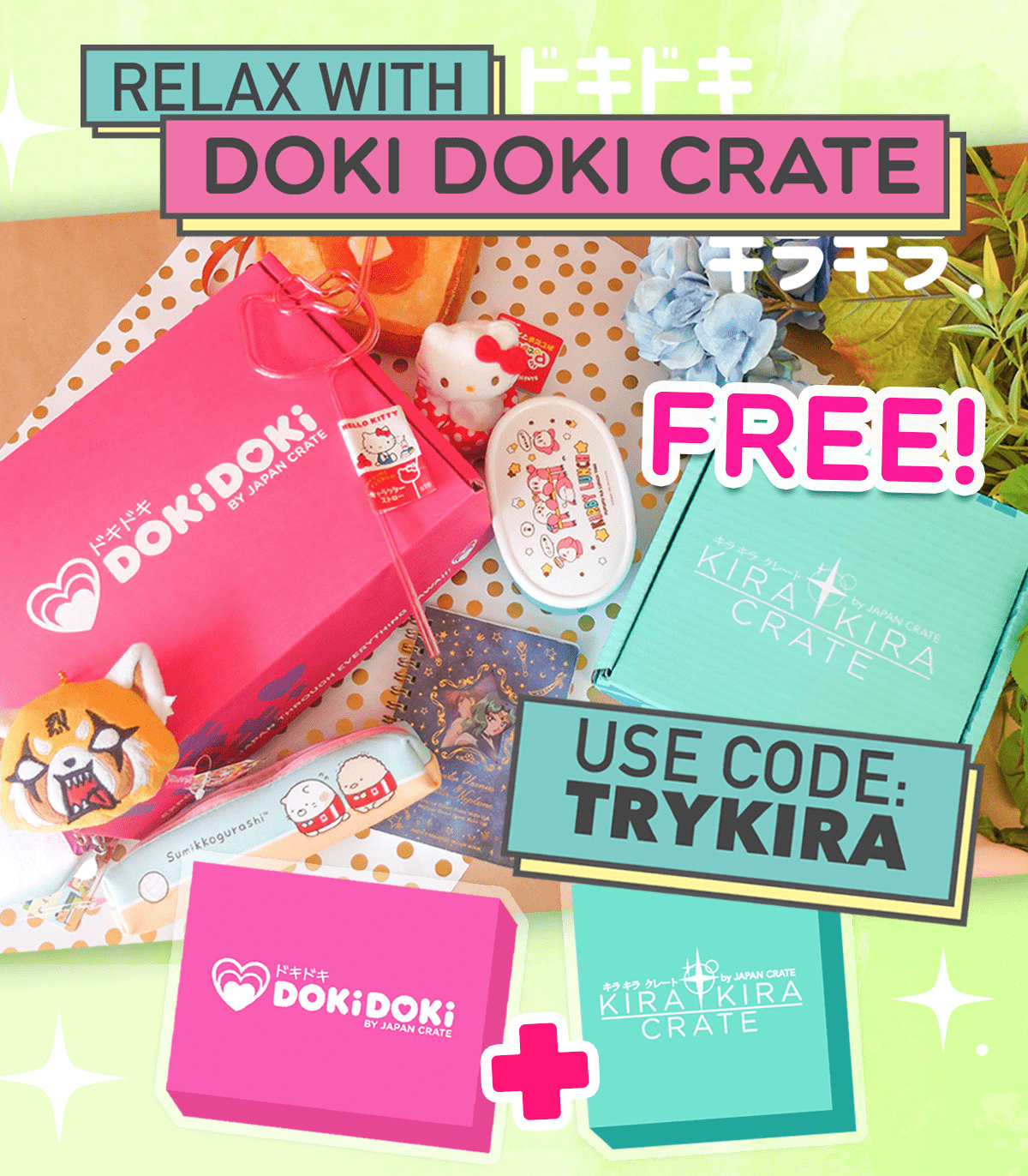 New Doki Doki Crate Coupon: Get a FREE Kira Kira Crate Sampler Box!