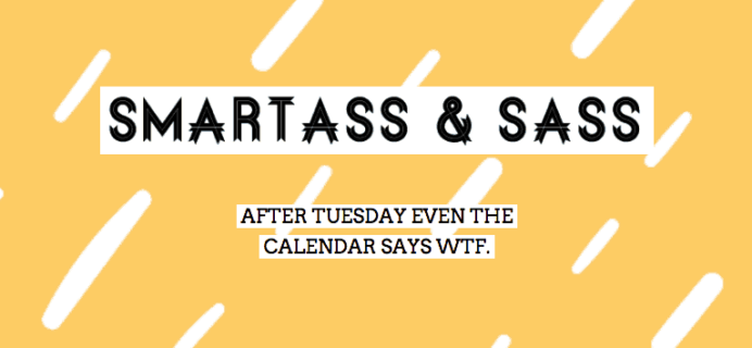 Smartass + Sass Box September 2018 Full Spoilers + Coupon!