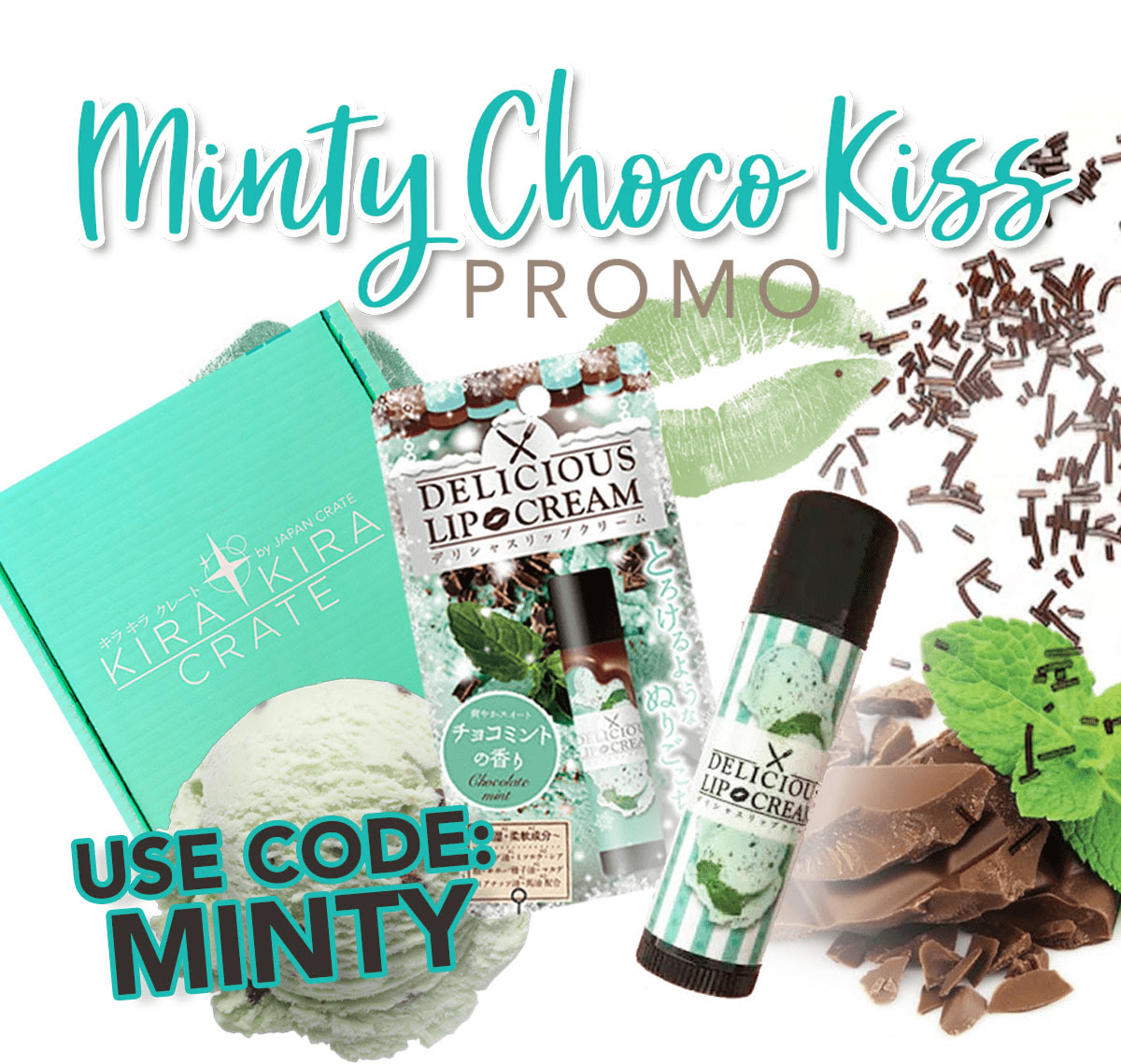 Kira Kira Crate Coupon: Get FREE Minty Choco Kiss Lip Cream + September 2018 Spoilers! LAST FEW DAYS!