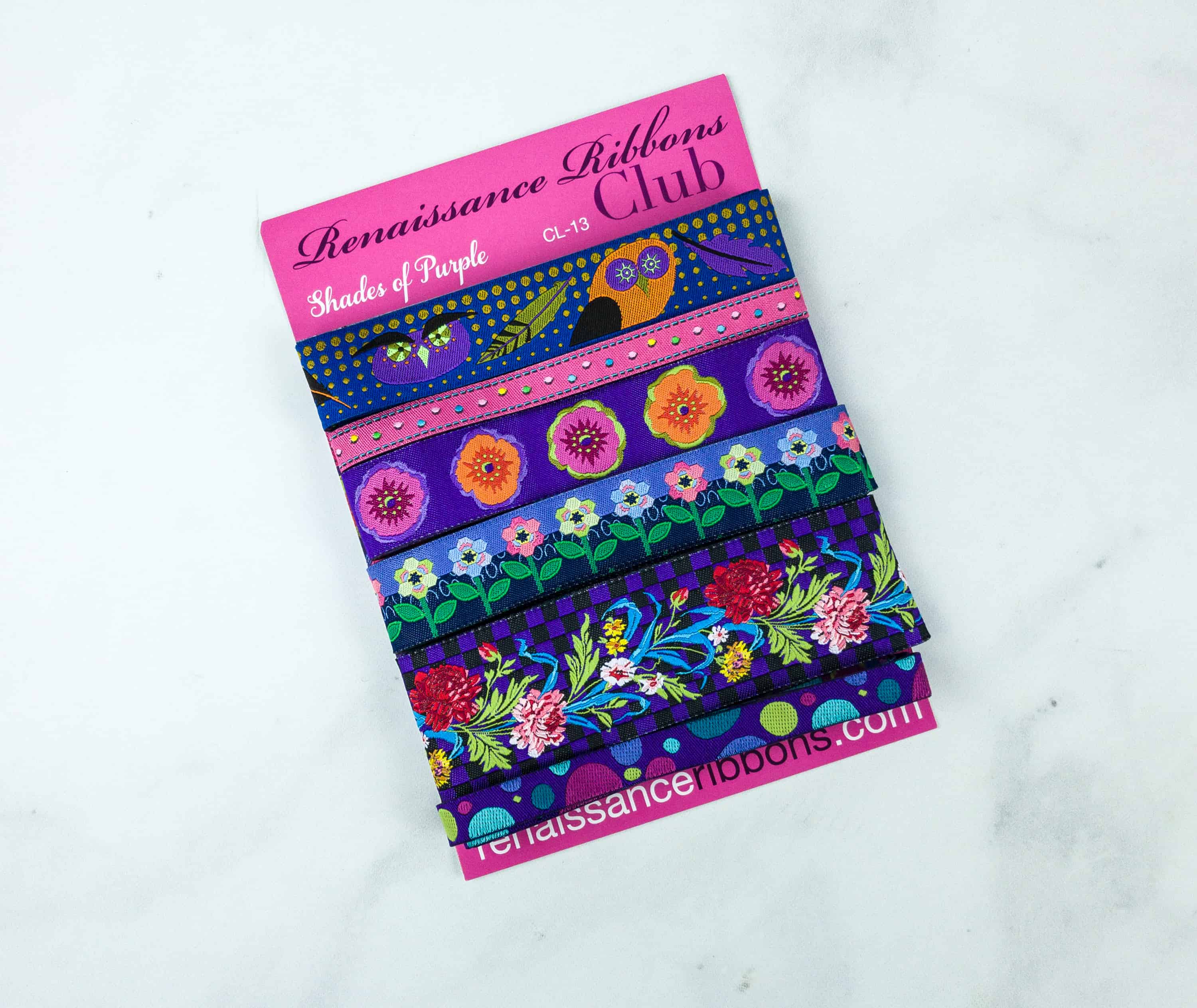 Renaissance Ribbons Ribbon Lovers' Club August 2018 Subscription Box Review + Coupon