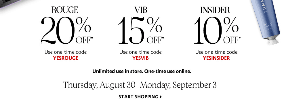 Sephora Fall Beauty Insider Sale Starts Now: Rouge 20% Off + VIB Save 15% Off EVERYTHING! LAST DAY!