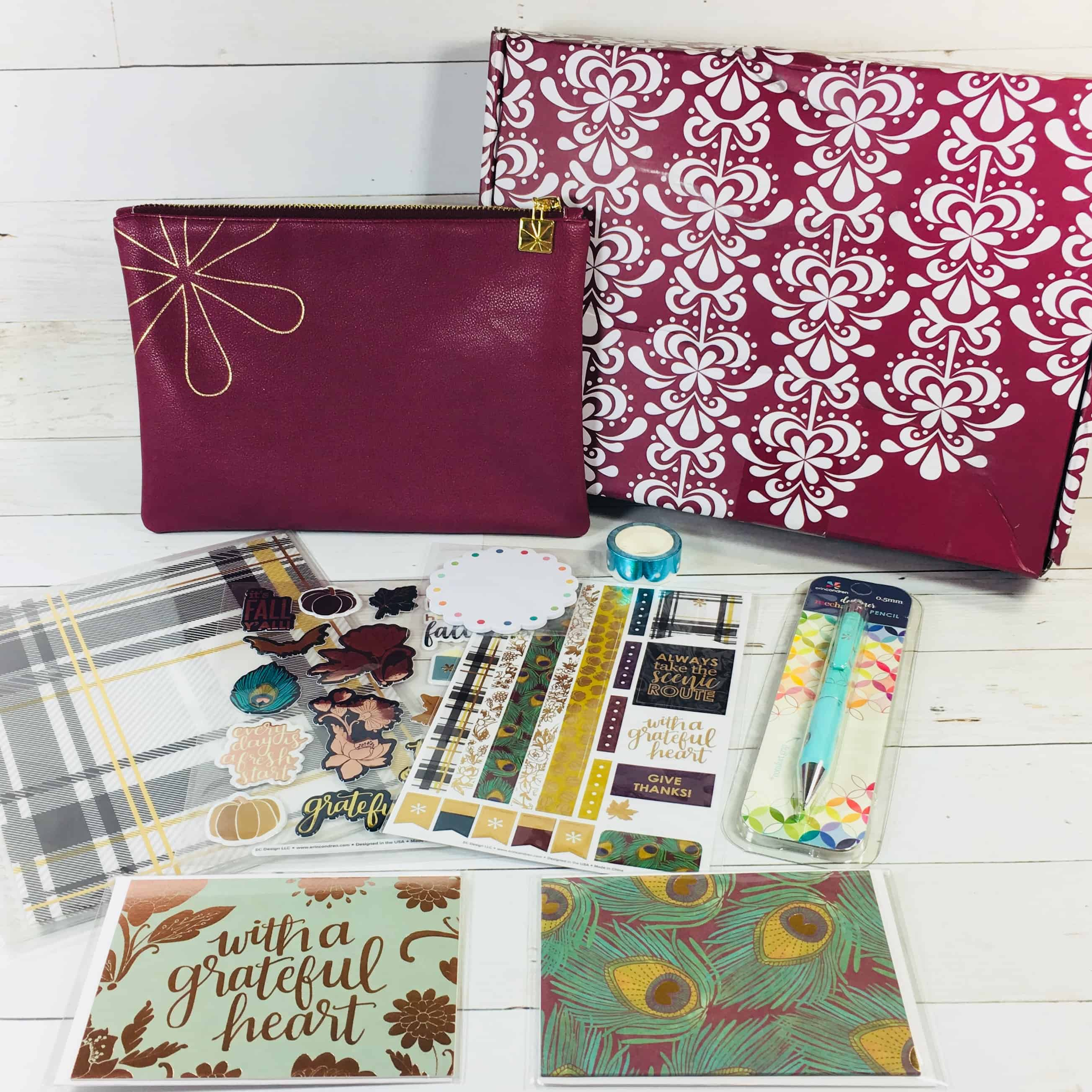 Erin Condren Seasonal Surprise Box Fall 2018 Subscription Box Review