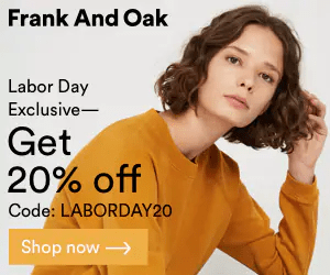 Frank And Oak Labor Day Sale: Get 20% Off On Select Items!