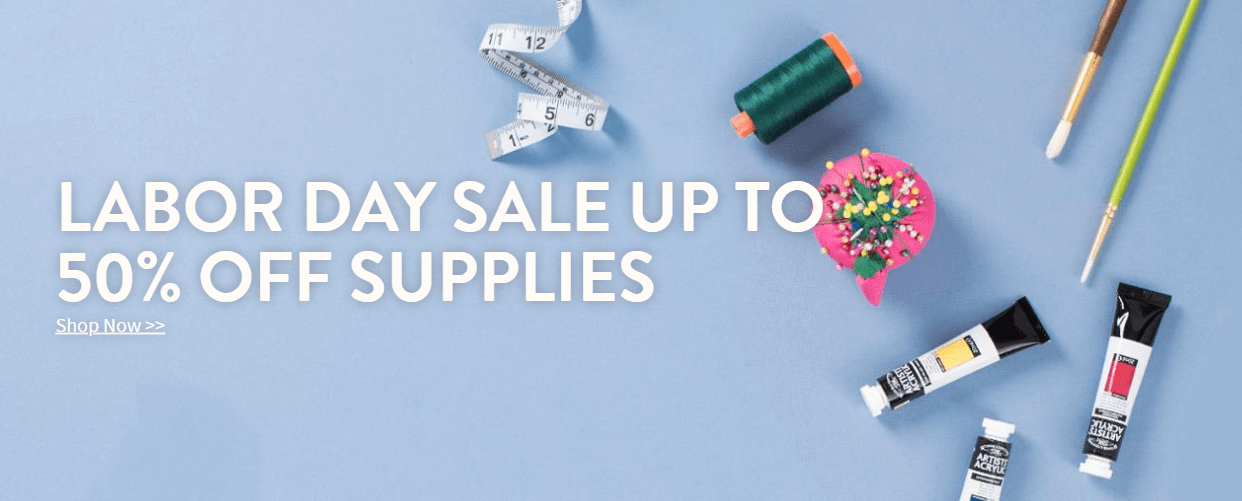Craftsy Labor Day Sale: Get Up To 50% Off Supplies!