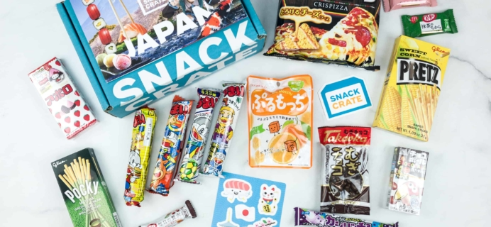 Snack Crate August 2018 Subscription Box Review & $10 Coupon