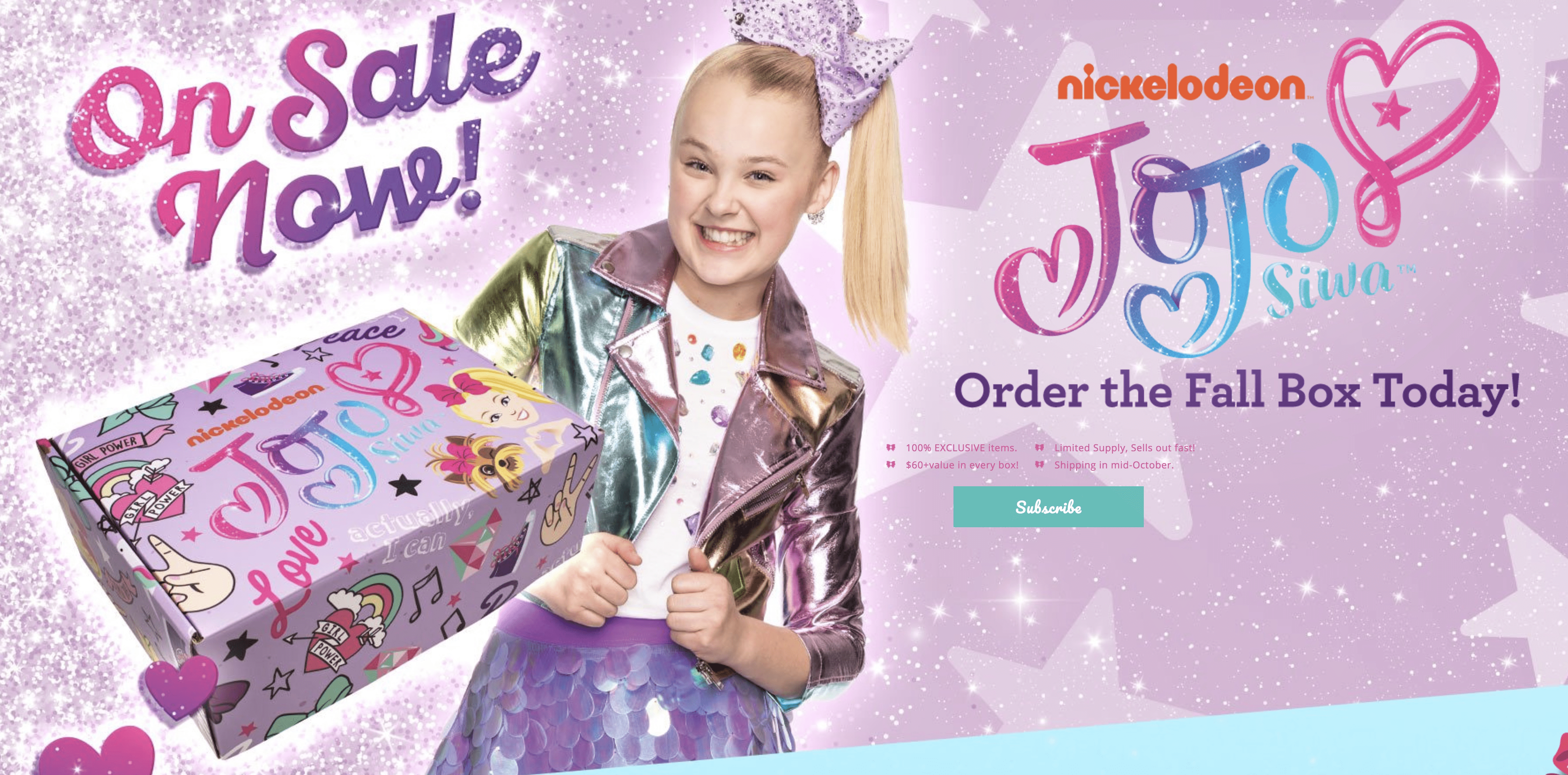 The Jojo Siwa Fall 2018 Box Pre-Orders Available Now!