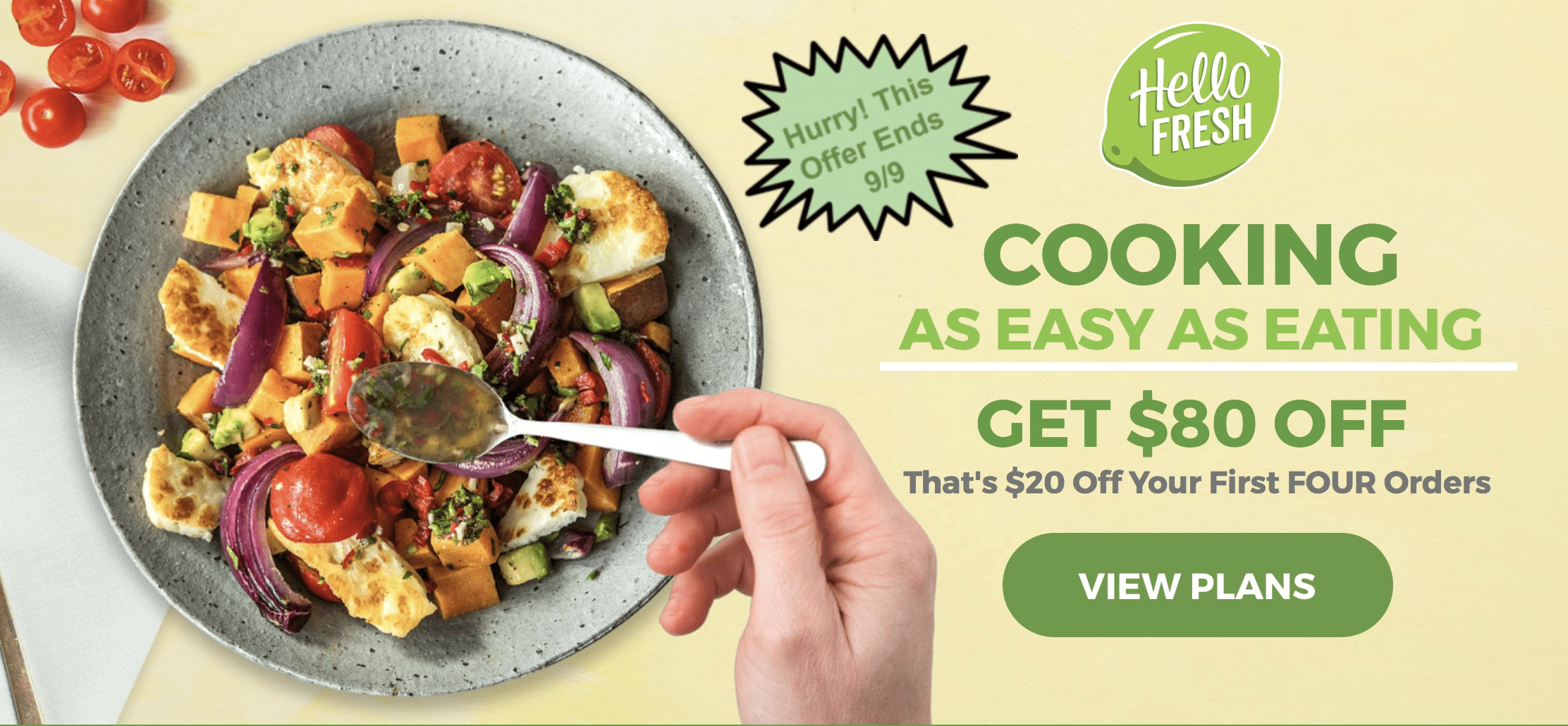 Hello Fresh Labor Day Coupon: $80 Off Your First Four Boxes!