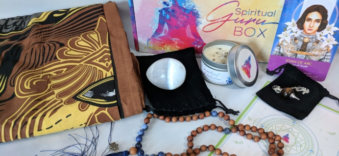 Spiritual Guru Subscription Box Review – August 2018