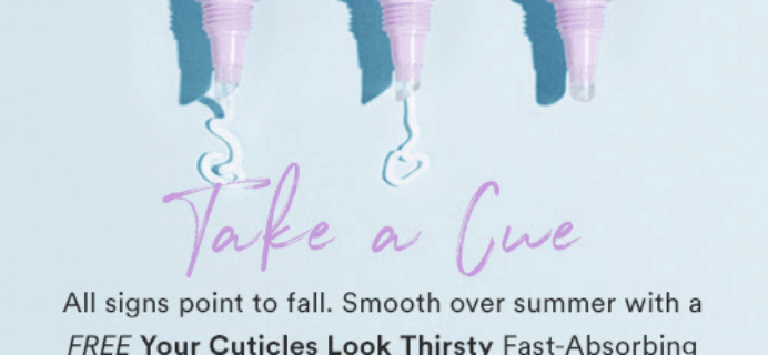 Julep Gift With Purchase Code: Get FREE Your Cuticles Look Thirsty Fast-Absorbing Cuticle Crème With Any $30 Purchase!