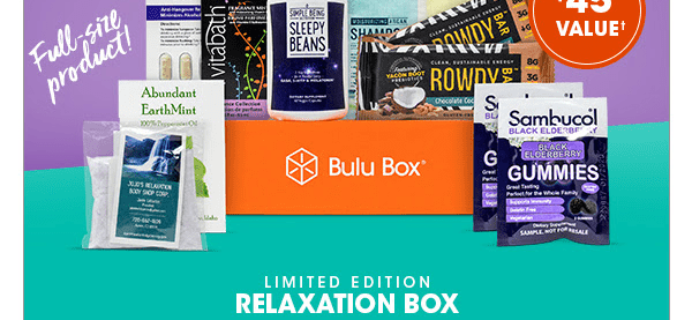Bulu Box Limited Edition Relaxation Box Now Available + Coupon!