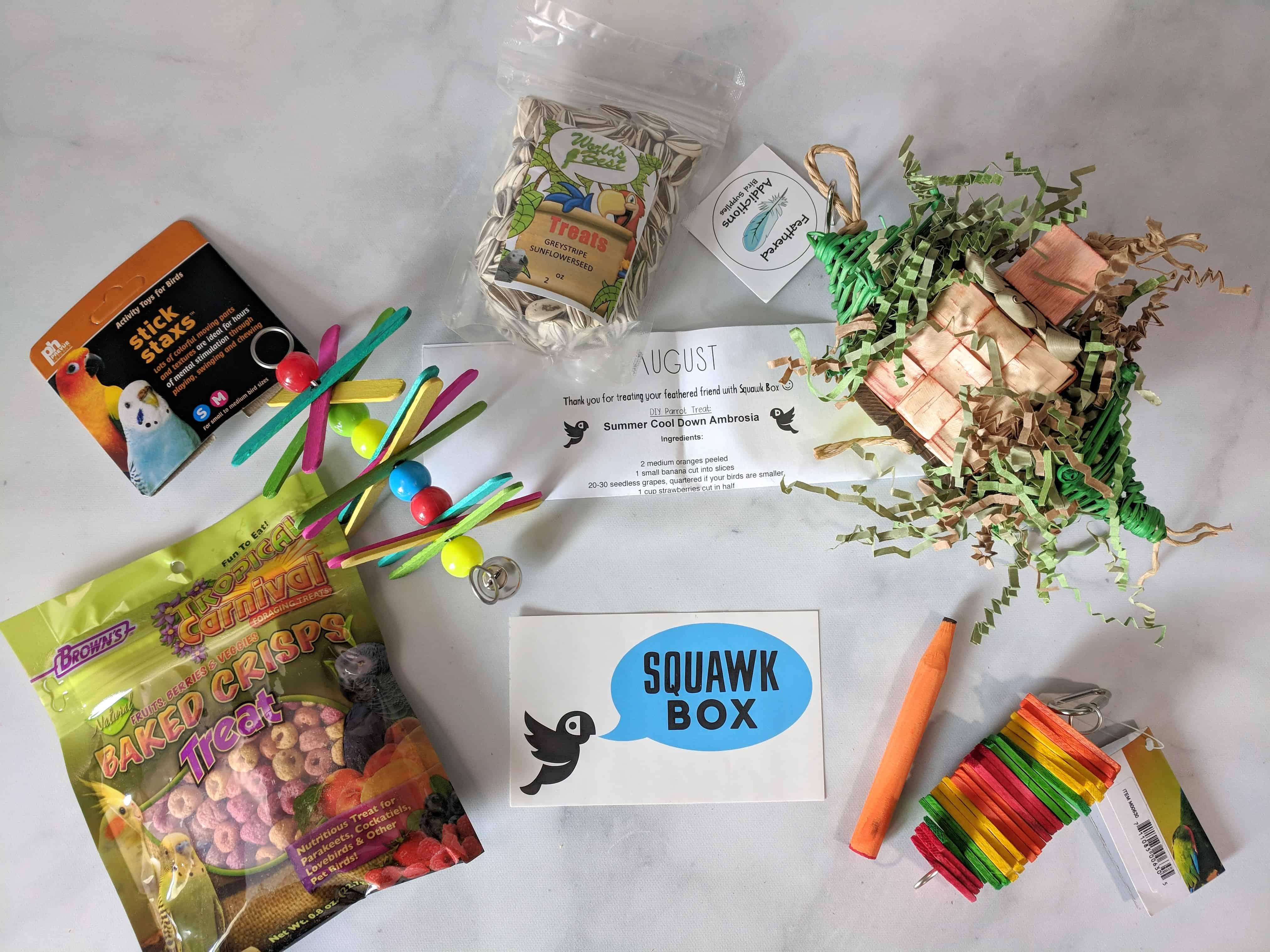 Squawk Box Subscription Review – August 2018