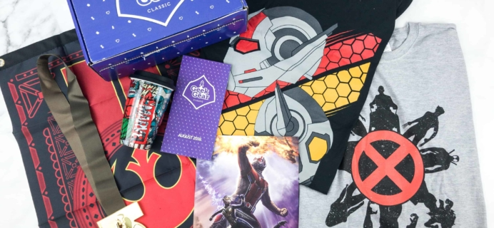 Geek Gear Box August 2018 Subscription Box Review + Coupon