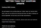 WWE Slam Crate August 2018 Shipping Update