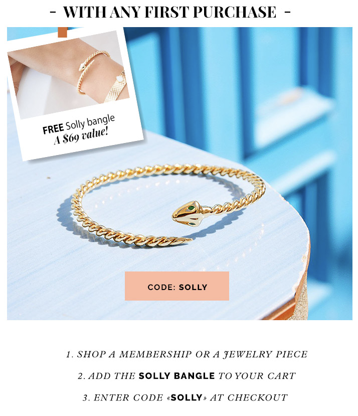 Emma & Chloe Coupon: Solly Bangle FREE With First Box!