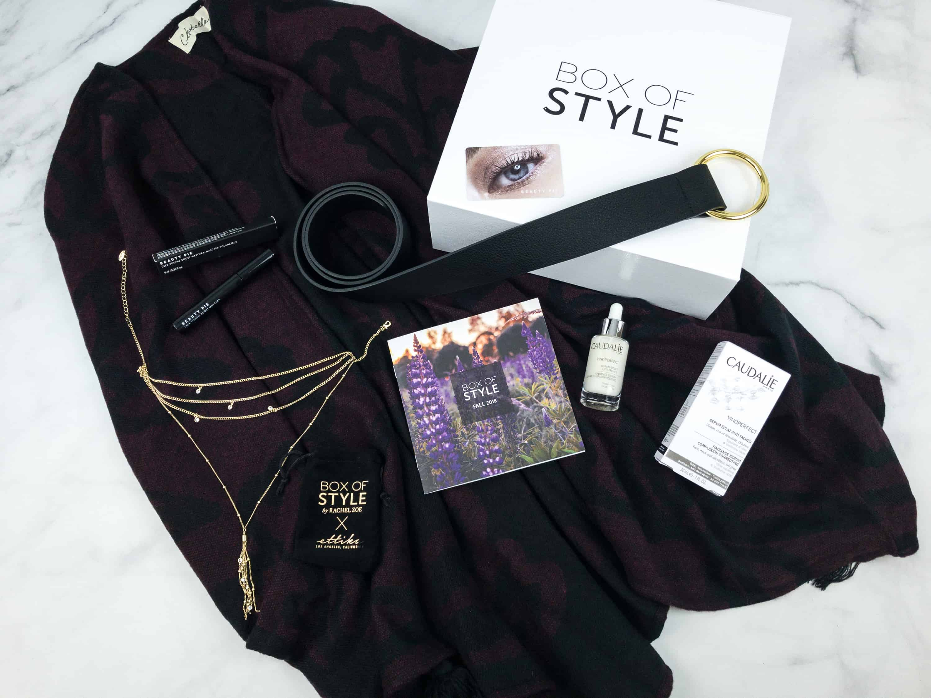 Zoe Report Box of Style Fall 2018 Review + Coupon