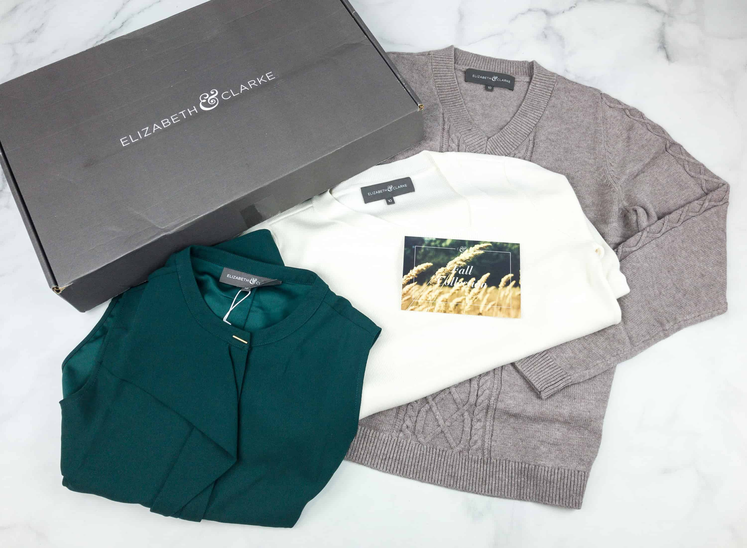 Elizabeth & Clarke Fall 2018 Subscription Box Review + Coupon