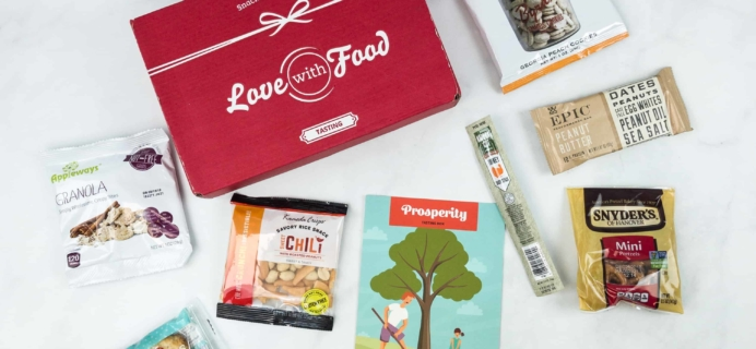 Love With Food September 2018 Tasting Box Review + Coupon!