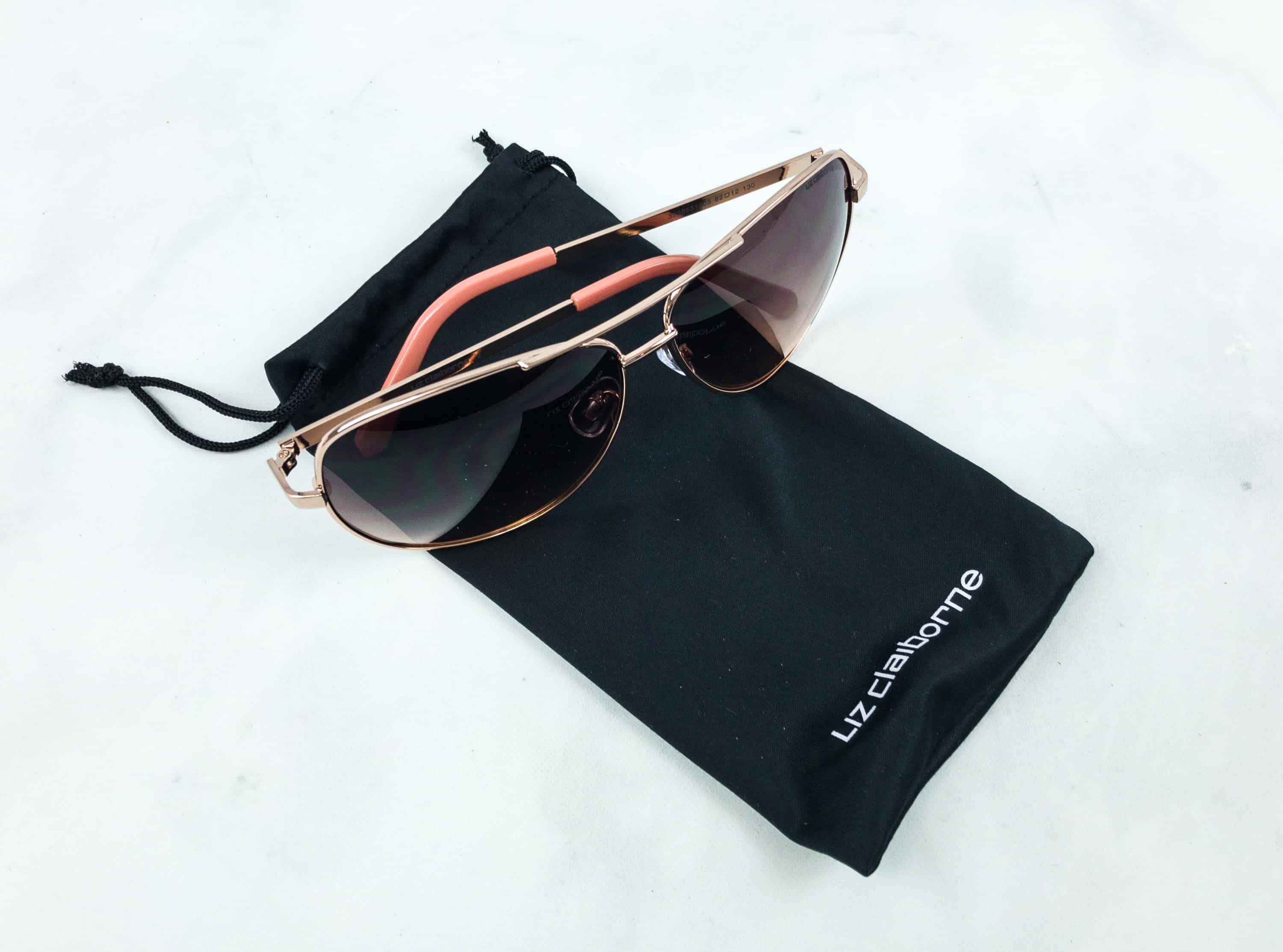 ca4f44cd2d62e Liz Claiborne Sloane Rose Gold Sunglasses ( 22.99) This is my other  favorite item in the box as it is a timeless pair that I can wear through  seasons.