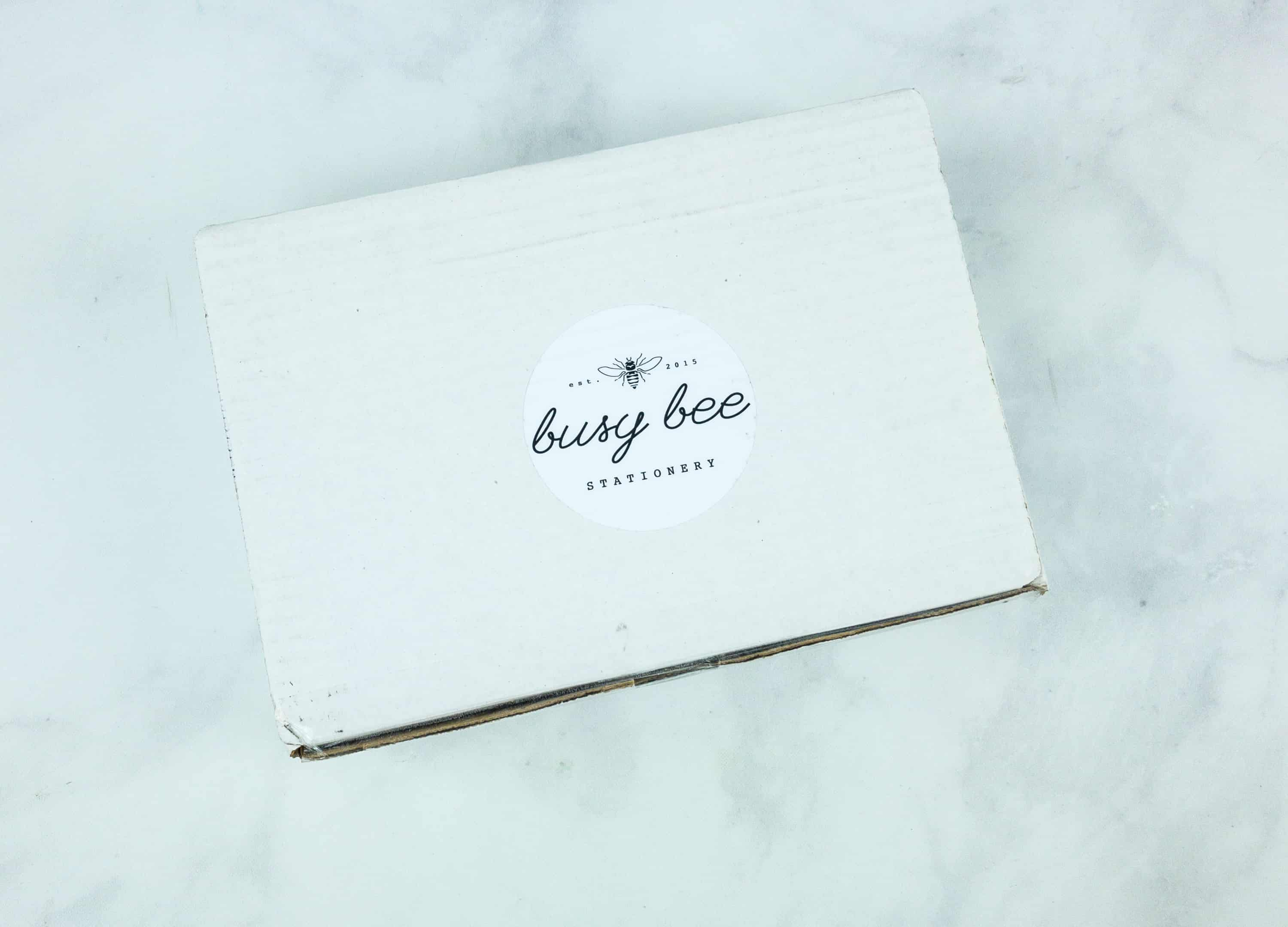 Busy Bee Stationery September 2018 Subscription Box Review