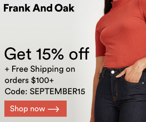 Frank And Oak September Sale: Get 15% Off + Free Shipping!