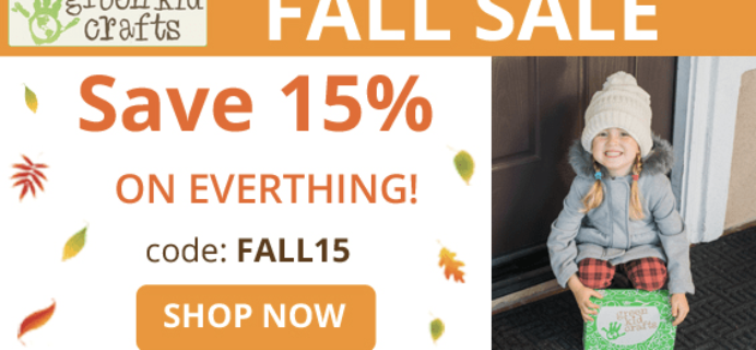 Green Kid Crafts Fall Sale: Get 15% Off Subscriptions!