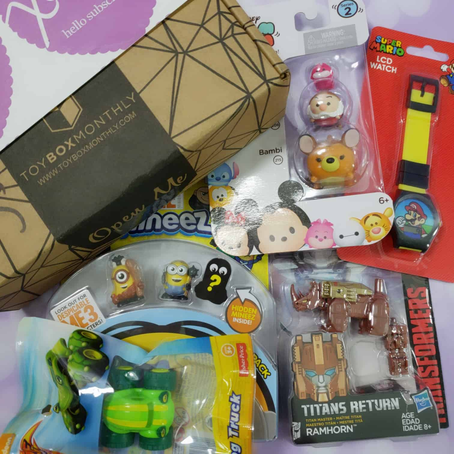 Toy Box Monthly August 2018 Subscription Box Review