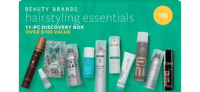 Beauty Brands Hairstyling Essentials 11 Piece Discovery Box Available Now + Coupon!