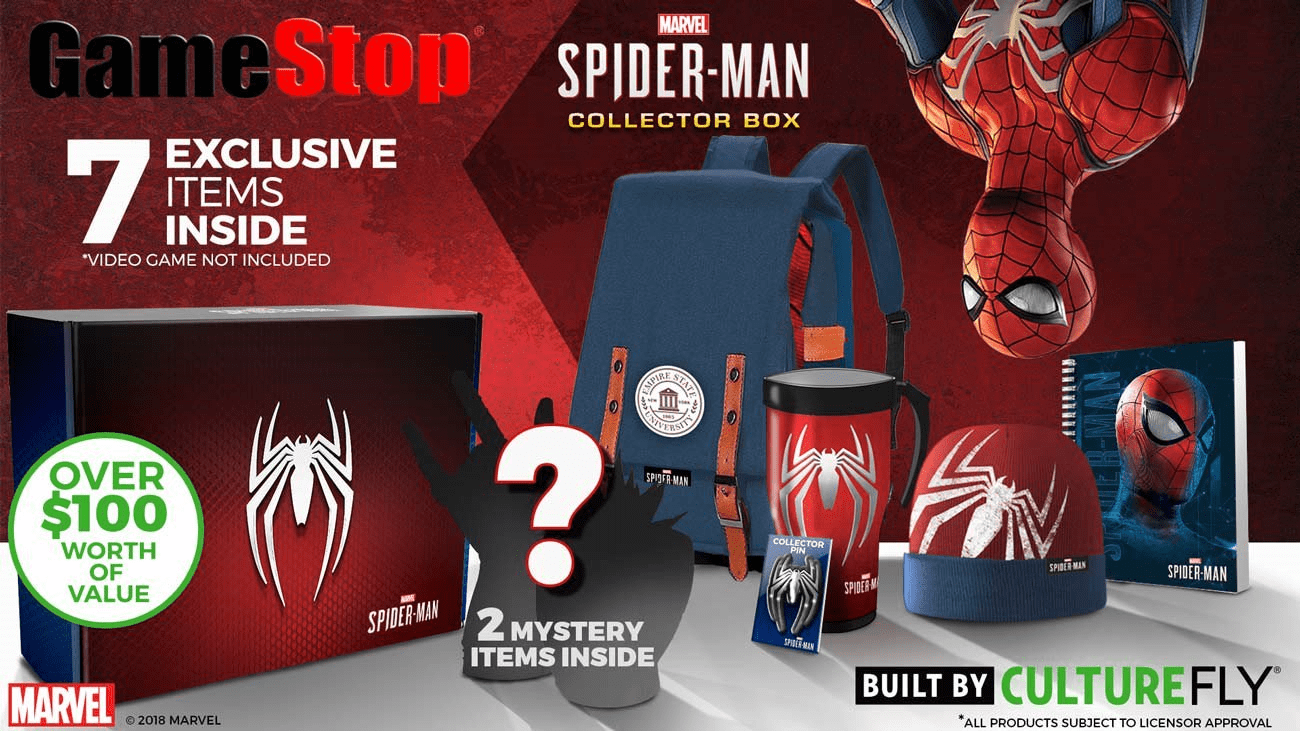 GameStop Exclusive CultureFly Marvel Spider-Man Collectors Box Full Spoilers!