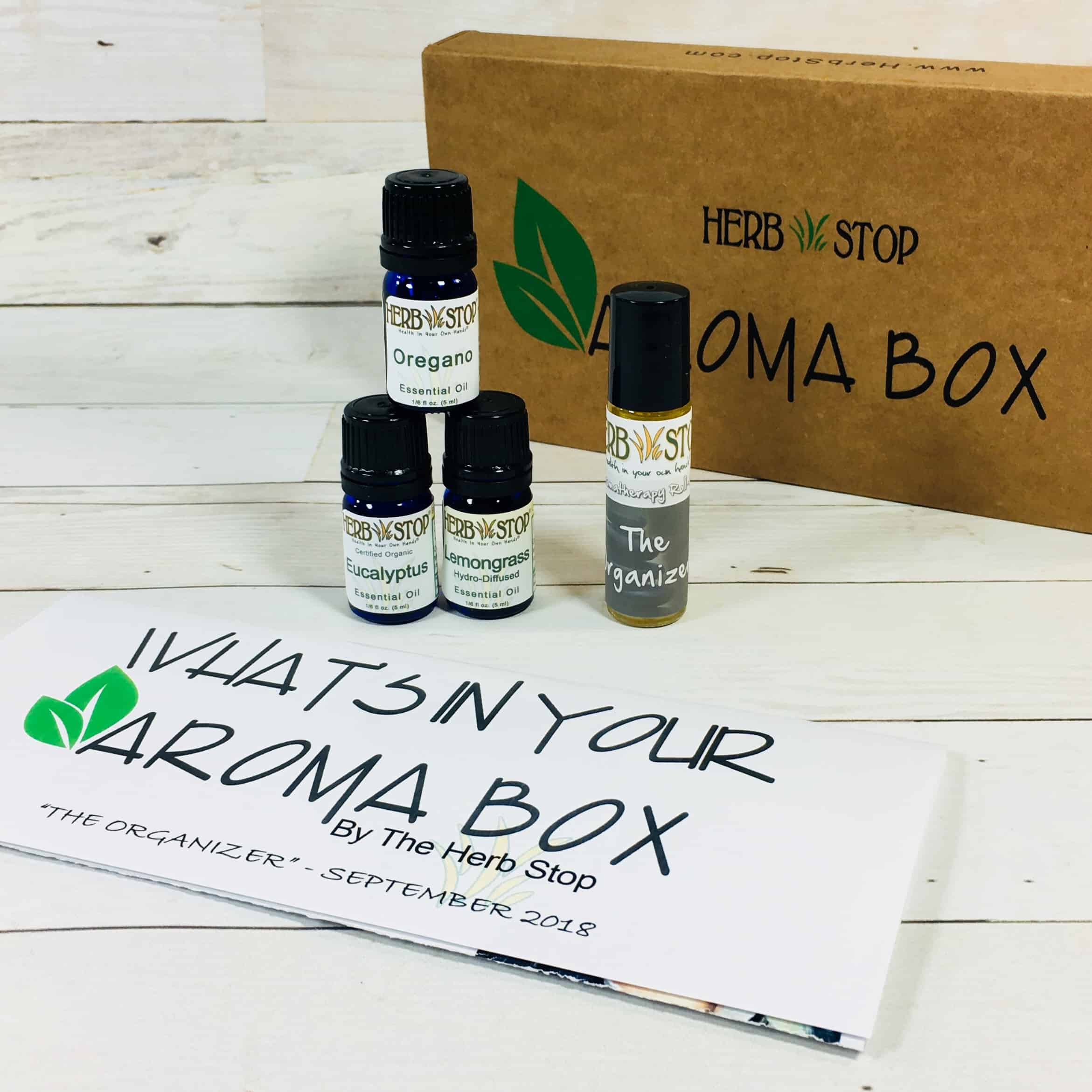 Herb Stop AromaBox Subscription Review & Coupon – September 2018
