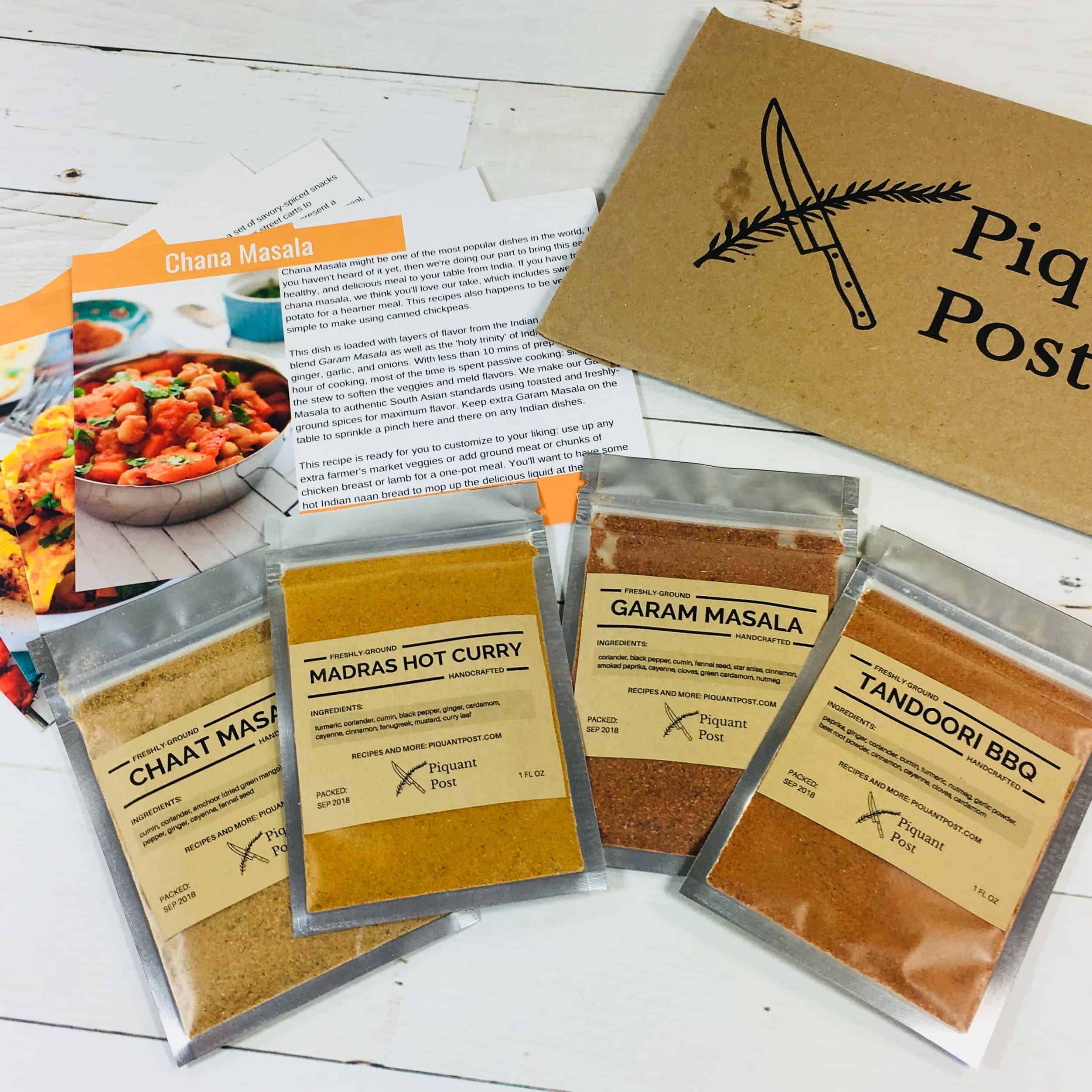 Piquant Post September 2018 Subscription Box Review + Coupon!