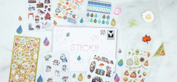 Stickii Club September 2018 Subscription Box Review & Coupon – Cute Pack!