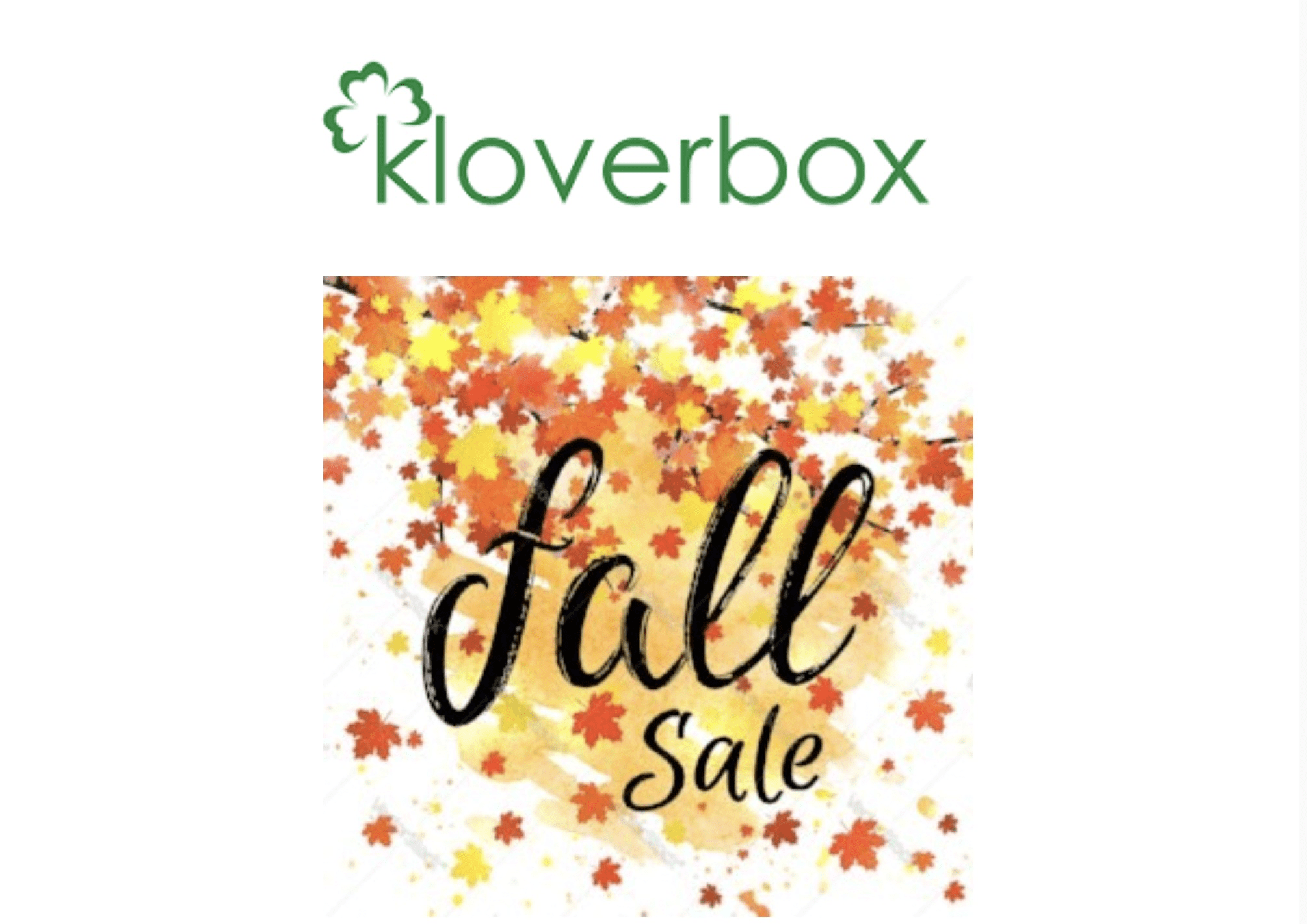 Kloverbox Fall Sale: Get 25% Off Any New Subscriptions!