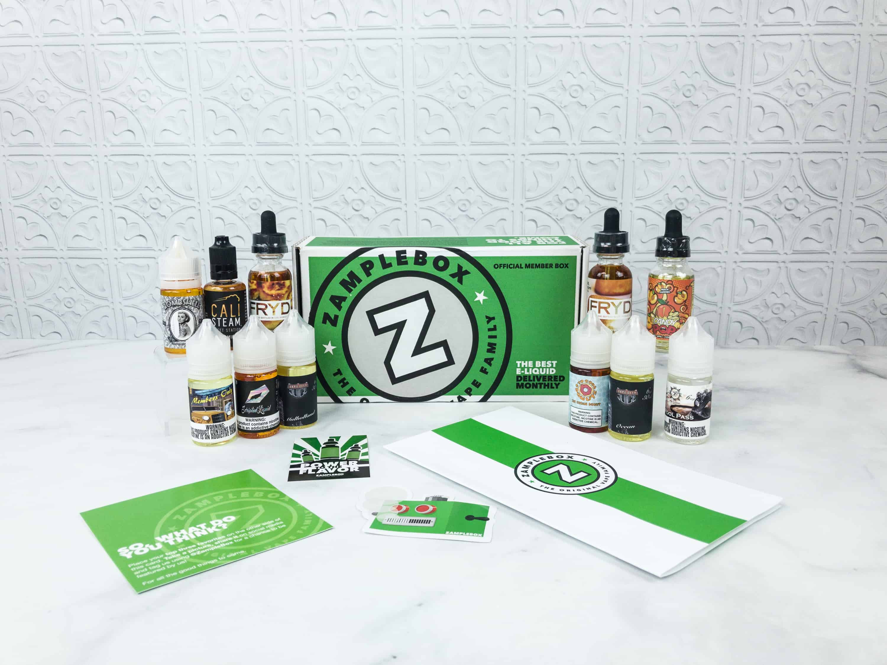 Zamplebox E-Juice September 2018 Subscription Box Review + Coupon!