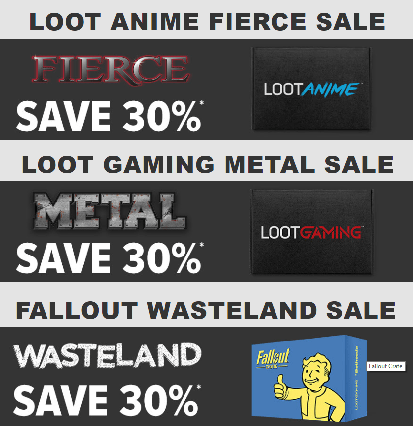 Loot Crate Coupon: Save 30% on Loot Anime & Loot Gaming! LAST DAY!