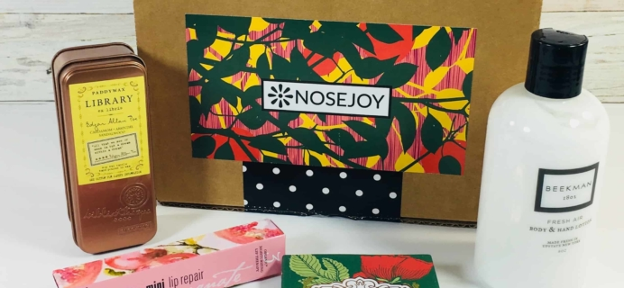 NOSEJOY September 2018 Subscription Box Review + Coupon!