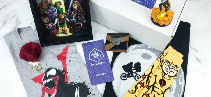 Geek Gear Box Special Edition August 2018 Subscription Box Review + Coupon