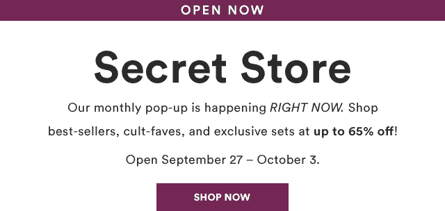 Julep October 2018 Secret Store Open!